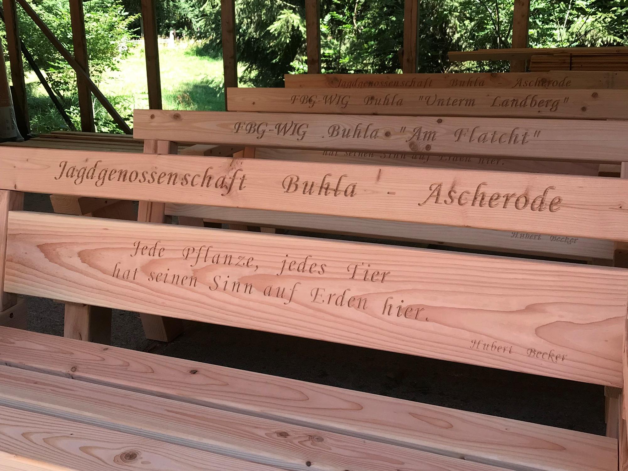 Holzbank Verein (2) mit Gravur